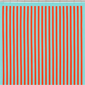 barque striped shower curtain