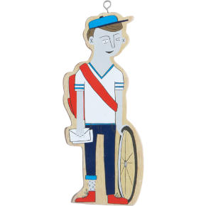 bike messenger ornament