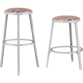 block printed barstools