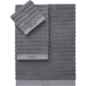 rayon bamboo channel grey bath towels