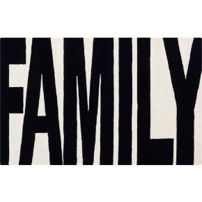 family black and white rug