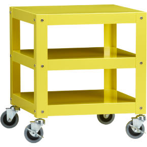 go-cart yellow rolling table