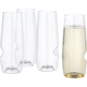 govino stemless flutes set of four