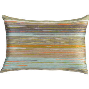multi-colored embroidered 18x12 pillow