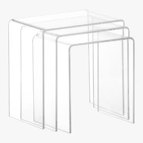 peekaboo clear nesting tables set of three
