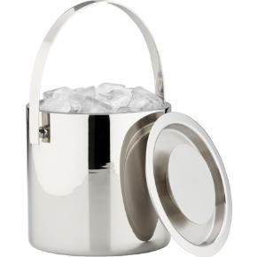 stainless steel shiny ice bucket
