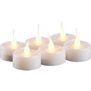 smart candle tealights set of six