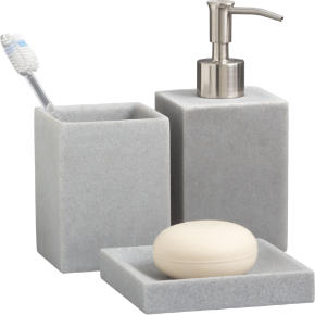 stone resin bath accessories