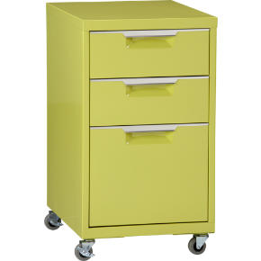 TPS chartreuse file cabinet