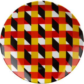 techno crazy stripe plate