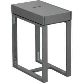torino grey side table