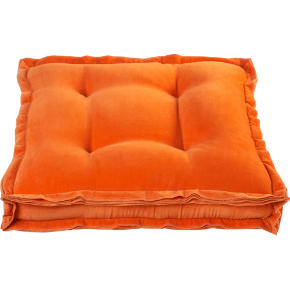 velvet orange 23 floor pillow