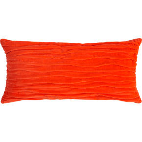 velvet twist orange 23x11 pillow