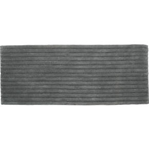 vertical stripe grey bath runner