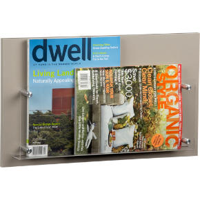 grey wall magazine rack