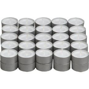 aluminum-cupped tealight candles set of 50