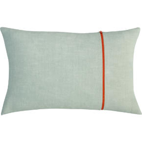 zipper mint 18x12 pillow