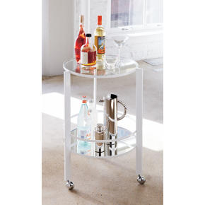 ernest white bar cart