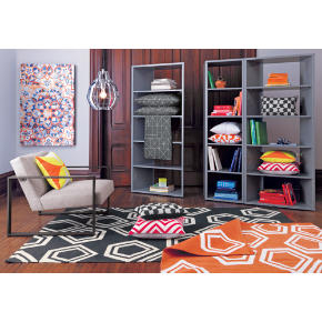 polygon dhurrie charcoal rug