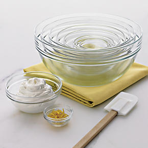 10-Piece 2.25-10.25 Glass Nesting Bowl Set