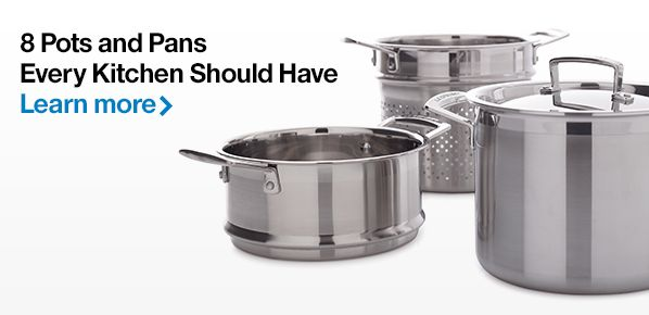 8 Pots and Pans Every Kitchen Should Have