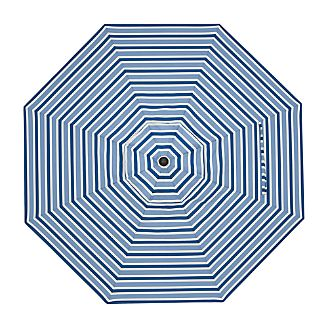 9' Round Blue Striped Umbrella Cover