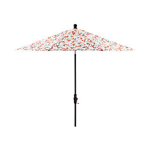 9' Round Budding Branch Umbrella with Tilt Black Frame