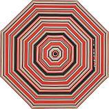 9' Round Sunbrella ® Rose Multi Striped Umbrella Cover
