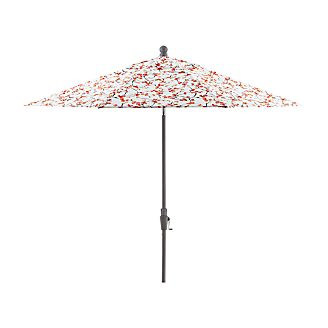 9' Round Budding Branch Umbrella with Tilt Silver Frame