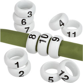 A Dozen Napkin Rings