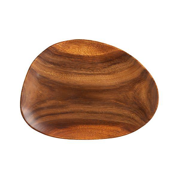 "Acacia Wood 15.75""x12.25"" Platter"