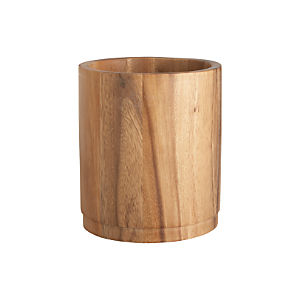 Acacia Utensil Holder