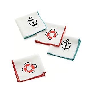 Ahoy Cocktail Napkins Set of Four
