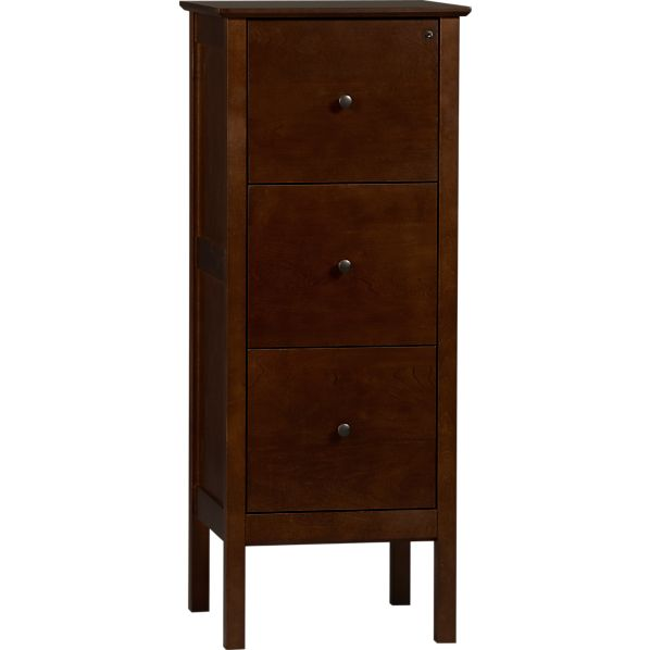 Ainsworth Cognac Triple Filing Cabinet