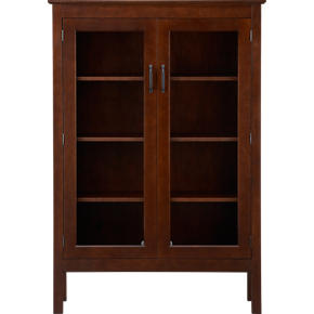 Ainsworth Cognac 40 Two-Door Cabinet with Glass Doors