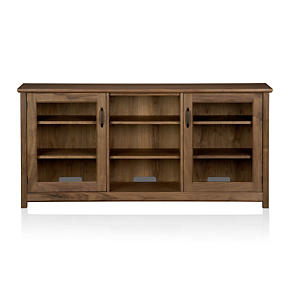 Ainsworth Walnut 64 Media Console with Glass Doors