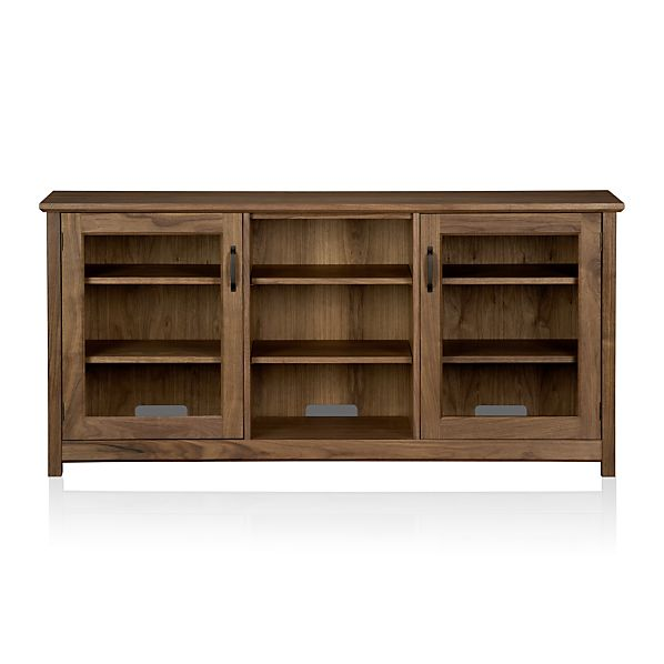 "Ainsworth Walnut 64"" Media Console with Glass Doors"