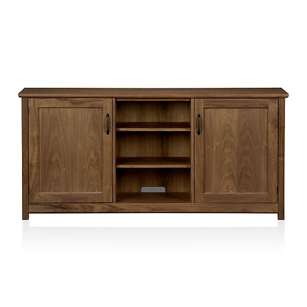 "Ainsworth Walnut 64"" Media Console with Wood Doors"