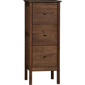 Ainsworth Walnut Triple Filing Cabinet