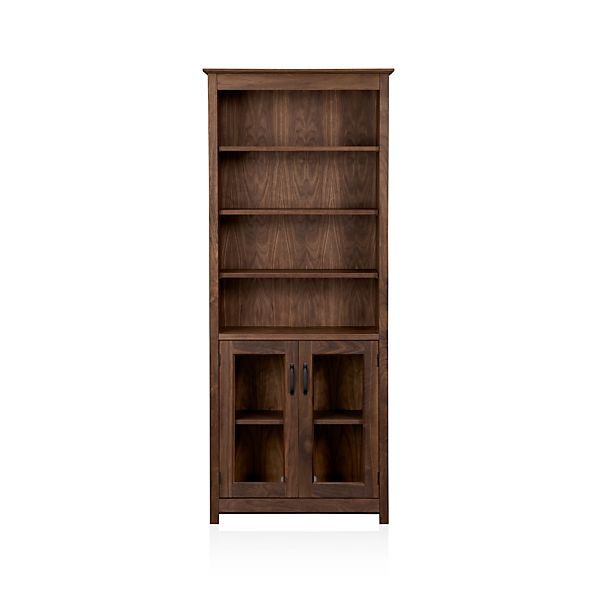 "Ainsworth Walnut 30"" Media Tower with Glass Doors"