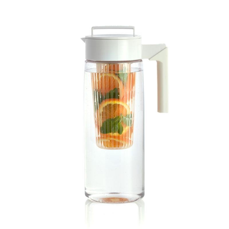 Airtight White 66oz Pitcher with Infuser