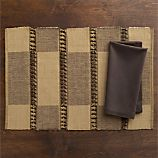 Akanni Placemat and Cotton Espresso Napkin
