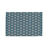 Aldo Blue Indoor-Outdoor 4'x6' Rug