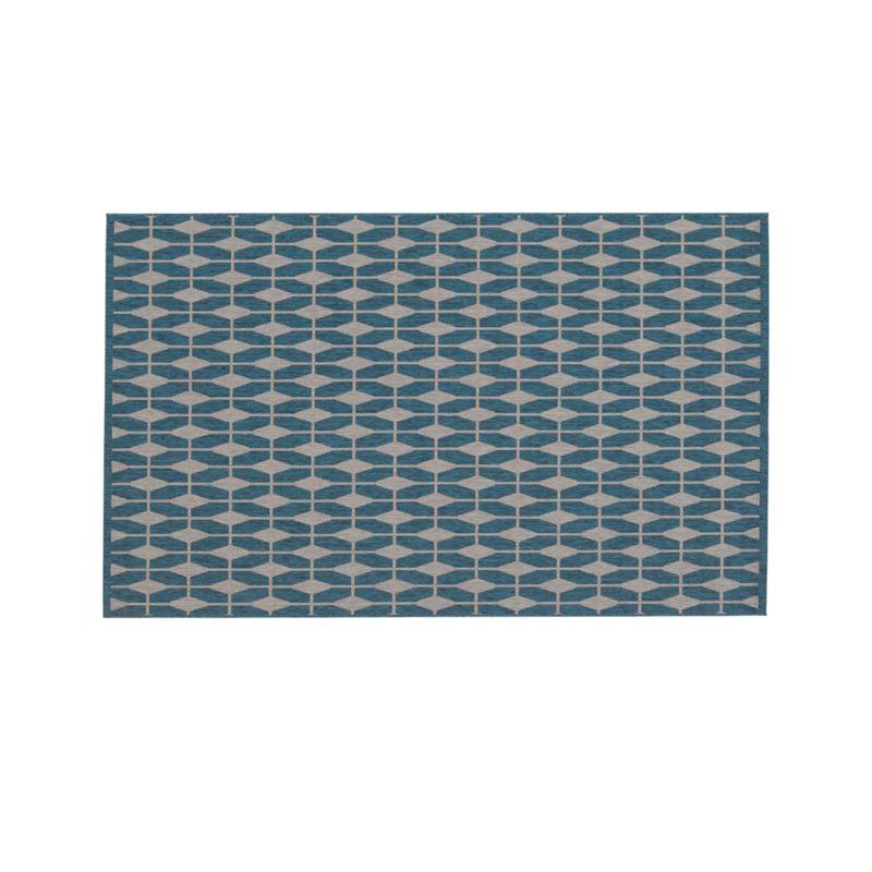 Aldo blue indoor outdoor 5 39 x8 39 rug crate and barrel for Cb2 indoor outdoor rug