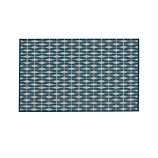 Aldo Blue Indoor-Outdoor 5'x8' Rug