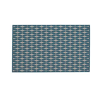 Aldo Blue Indoor-Outdoor Rug