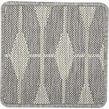 "Aldo Dove Grey Indoor-Outdoor 12"" sq. Rug Swatch"