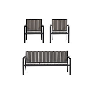 Alfresco Grey 3-Piece Lounge Set