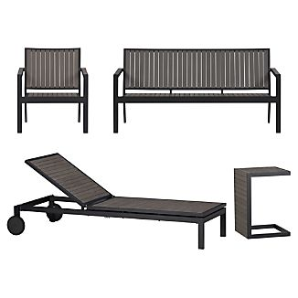 Alfresco Grey 4-Piece Lounge Set