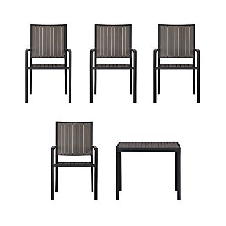 Alfresco Grey 5-Piece Cafe Dining Set